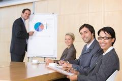 équipe d'affaires de salle de réunion Photo libre de droits