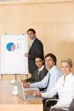 équipe d'affaires de salle de réunion Images stock