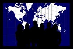 Équipe d'affaires du monde Images libres de droits