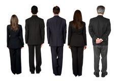 Équipe d'affaires - garniture arrière Image libre de droits
