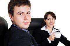 Équipe d'affaires lors d'un contact photos stock