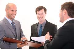 Équipe d'affaires lors d'un contact Photo libre de droits