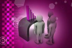 Équipe d'affaires regardant le graphique financier Photos stock