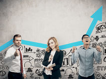 Équipe d'affaires travaillant ensemble Image libre de droits