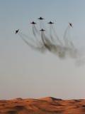 Équipe d'affichage d'avion de chasse à l'airshow Photo stock