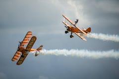 Équipe d'affichage de Breitling Wing Walkers Photos stock