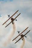 Équipe d'affichage de Breitling Wing Walkers Photo libre de droits