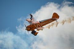Équipe d'affichage de Breitling Wing Walkers Images libres de droits