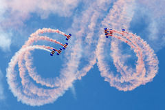 Équipe d'affichage de parachute de Falcons Images libres de droits