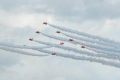 Équipe d'affichage de RAF Red Arrows 2016 Images stock