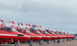 Équipe d'affichage de RAF Red Arrows 2016 photographie stock