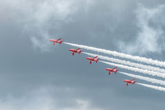 Équipe d'affichage de RAF Red Arrows 2016 image stock
