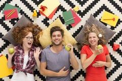 Équipe d'amis heureux Image stock