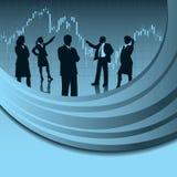 Équipe d'analyse financière Photographie stock libre de droits