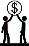Équipe d'argent Image libre de droits