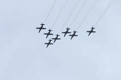 Équipe d'avion à réaction de Breitling Images stock