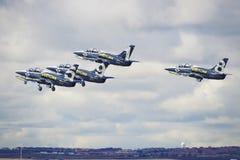 Équipe d'avion à réaction de Breitling Images libres de droits