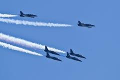Équipe d'avion à réaction de patriotes Photographie stock libre de droits