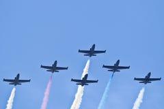 Équipe d'avion à réaction de patriotes Photo stock
