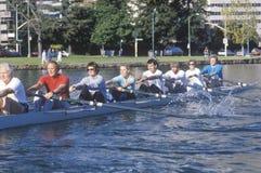 Équipe d'aviron, lac Merritt, Oakland, CA Photos libres de droits