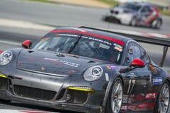 Équipe d'emballage de Ruffier Porsche 991 24 heures de Barcelone Photo stock