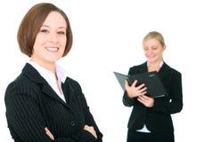 équipe d'isolement par femelle d'affaires Image stock