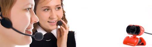 Équipe d'opératrices de femmes Photos stock