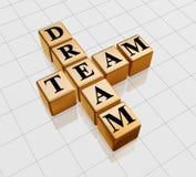 équipe d'or rêveuse Photos libres de droits