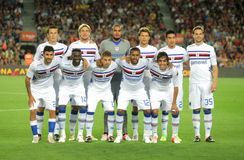 Équipe d'UC Sampdoria Photographie stock