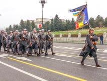 Équipe dans des habillements militaires Image stock