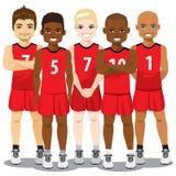 Équipe de basket Photos stock