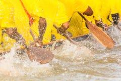 Équipe de bateau à rames Photo stock