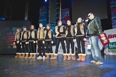 Équipe de Breakdance DOUBLE A sur l'étape Images libres de droits