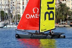 Équipe de Brunel de formation de catamarans de ProAM 32 Photos libres de droits