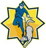 Équipe de canine de chien policier de policier Photographie stock