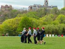 Équipe de cerf-volant du feu de Chicago Photographie stock libre de droits