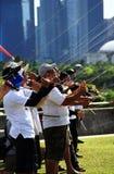 équipe de cerfs-volants de vol Photo stock