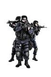 Équipe de choc dans l'action Images libres de droits