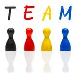 Équipe de concept, travail d'équipe, chef de noir de couleur primaire d'organisation Photographie stock libre de droits