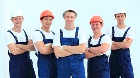 Équipe de constructeurs professionnels dans les casques Photographie stock libre de droits