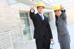 Équipe de construction d'homme et de femme Image stock