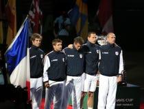 Équipe de Coupe Davis de la France Image libre de droits