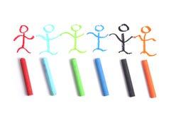équipe de crayon d'art Image libre de droits