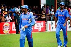 Équipe de cricket de l'Inde Images libres de droits
