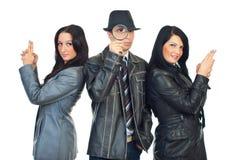 Équipe de détectives Photographie stock libre de droits