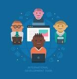 Équipe de développement internationale Image libre de droits