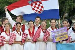 Équipe de danse folklorique de la Croatie Image libre de droits