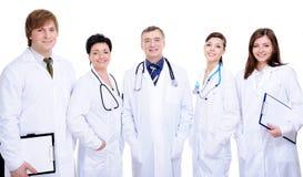 Équipe de diversité du docteur cinq réussi heureux photo stock