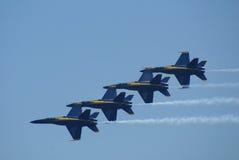 Équipe de fête aérienne d'anges bleus Images libres de droits