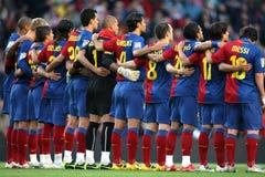 équipe de fc de Barcelone Photos libres de droits
